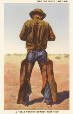Cowboy Rolling Cigarette