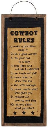 Cowboy Rules Stitchery