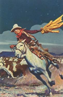 Cowboy with Stampede