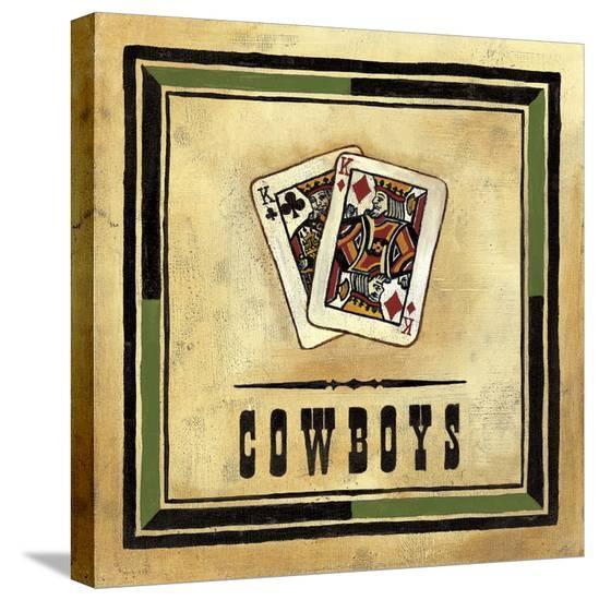 Cowboys-Jocelyne Anderson-Tapp-Stretched Canvas Print