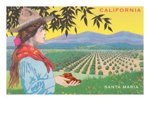 Cowgirl with Strawberries, Santa Maria, California