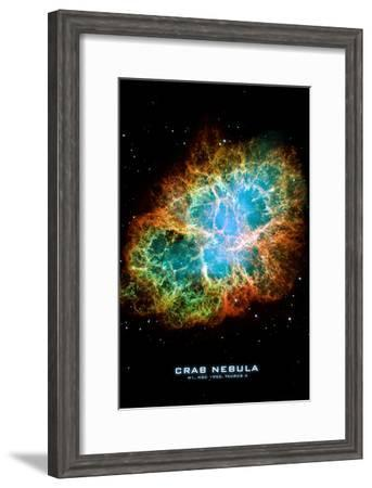 Crab Nebula Text Space Photo Art Poster Print--Framed Poster