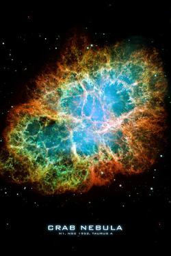 Crab Nebula Text Space Science Plastic Sign