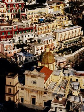 Church of Santa Maria Assunta and Colourful Houses, Positano, Italy by Craig Pershouse