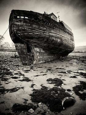 Old Boat on Sand by Craig Roberts