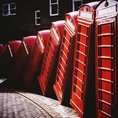 Old Fashioned Red Phone Boxes by Craig Roberts