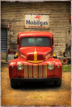 Red Truck by Craig Satterlee