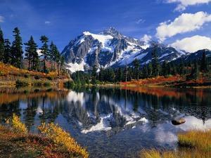 Autumn Foliage Surrounding Picture Lake by Craig Tuttle