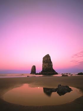Dusk Settling over Coastal Rock at Cannon Beach by Craig Tuttle