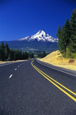Highway Approaching Mt. Hood by Craig Tuttle
