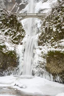Multnomah Falls in Winter by Craig Tuttle