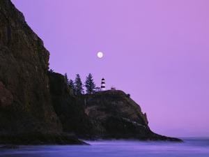 Purple Skies Over Lighthouse by Craig Tuttle