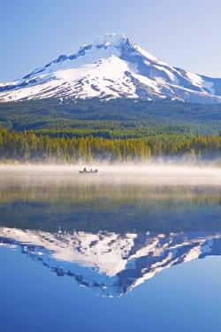 Reflection in Trillium Lake, Mt. Hood, Oregon Cascades. Pacific Northwest by Craig Tuttle
