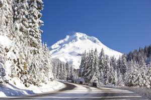 Snow Covered Road, Mount Hood, Oregon Cascades by Craig Tuttle