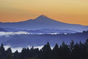 Sunrise through Morning Fog Adds Beauty to Happy Valley, Oregon, Pacific Northwest by Craig Tuttle