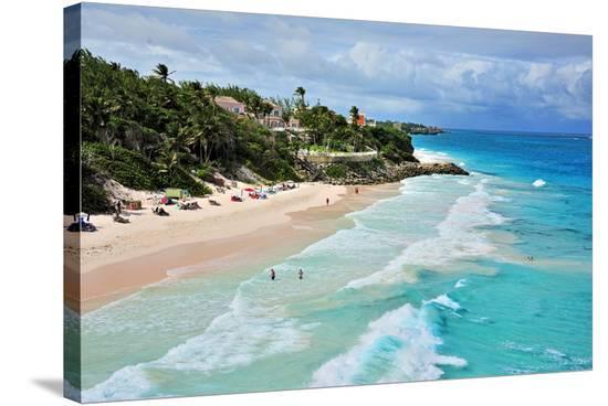 Crane Beach, St. Philip, Barbados, Caribbean--Stretched Canvas Print