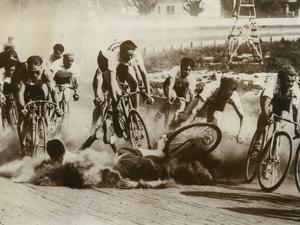 Crash at a Bicycle Race in Milwaukee, Wisconsin, 1934