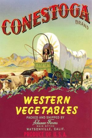 Crate Label for Conestoga Vegetables