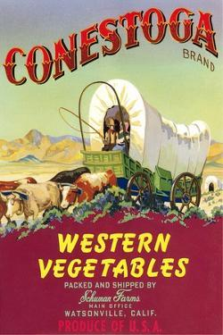Crate Label for Conestoga Vegetables