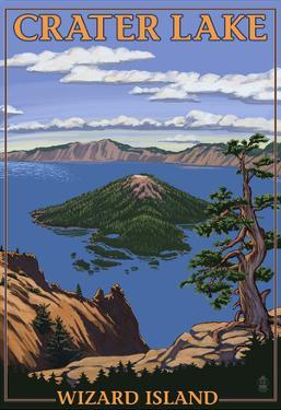 Crater Lake, Oregon - Wizard Island View, c.2009