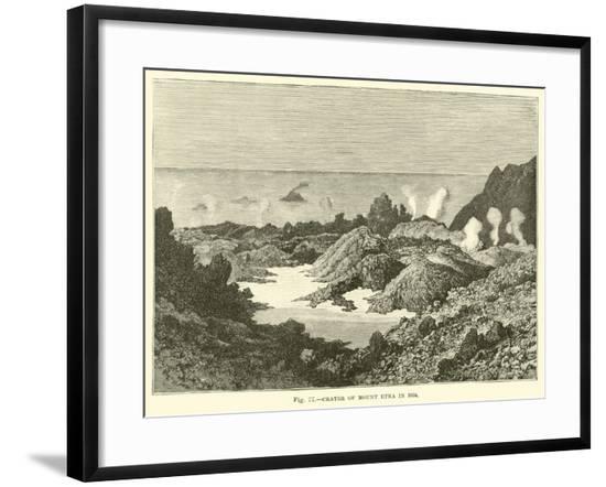 Crater of Mount Etna in 1834--Framed Giclee Print