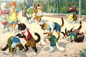 Crazy Cats on the Playground