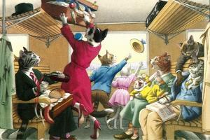 Crazy Cats on the Train