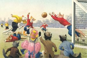 Crazy Cats Playing Soccer