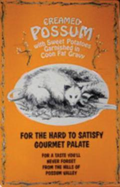 Creamed Possum Tin Sign