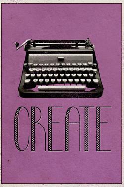 Create Retro Typewriter Player Plastic Sign