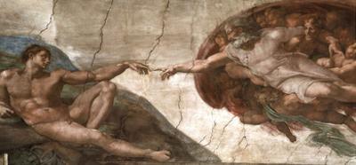 Creation of Adam (Full) Michaelangelo ART PRINT POSTER