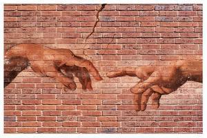 Creation of Adam Graffiti Art