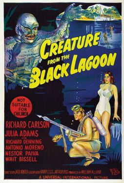 Creature from the Black Lagoon, Richard Carlson, Julie Adams, 1954