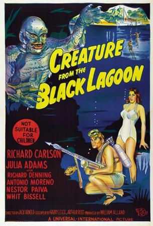 Creature from the Black Lagoon, Richard Carlson, Julie Adams, 1954