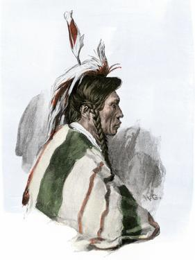 Cree Indian of the Minnesota - Canada Borderlands, 1800s