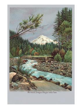 Creek with Mt. Hood in Background, Oregon