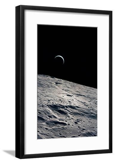 Cresent Earth, As Seen From the Moon--Framed Giclee Print