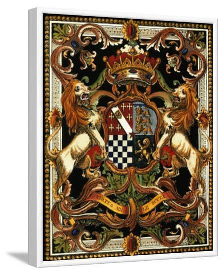 Crest on Black II--Framed Art Print