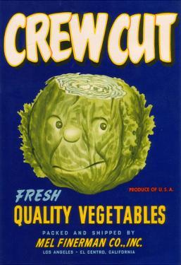 Crew Cut Lettuce Label - El Centro, CA