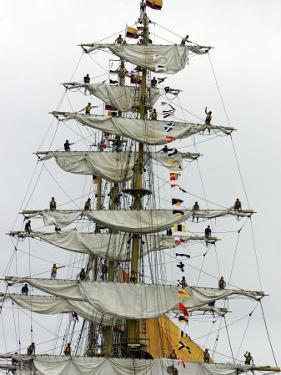 Crew Members of the Tall Ship Guayas