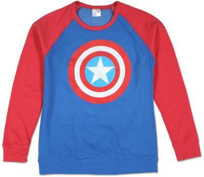 Crew Neck: Captain America - Color Block