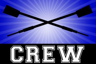 Crew Oars Sports Plastic Sign