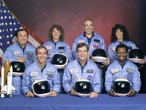 Crew Portrait of the Challenger Astronauts, Jan 28, 1986