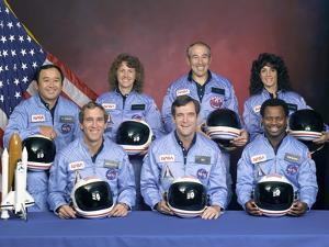 Crew Portrait of the Challenger Astronauts, Jan 28, 1986