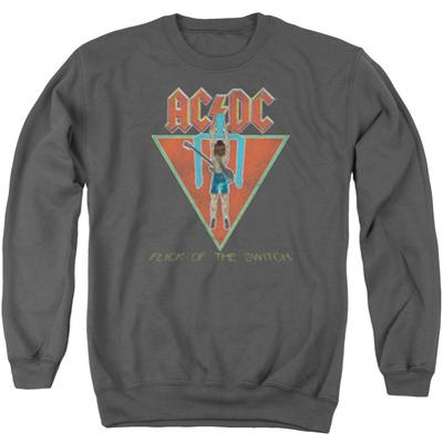 Crewneck Sweatshirt: AC/DC- Flick Of The Switch Applique