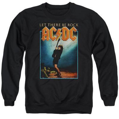 Crewneck Sweatshirt: AC/DC- Let There Be Rock Distressed Stamp