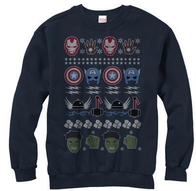 Crewneck Sweatshirt: Avengers- Ugly Avengers Sweater
