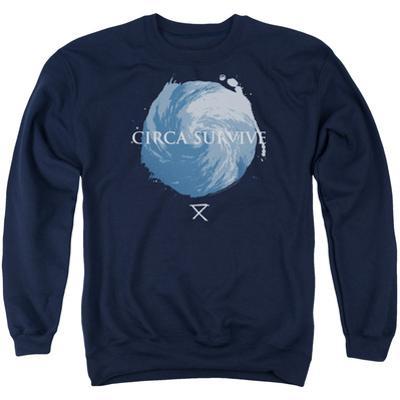 Crewneck Sweatshirt: Circa Survive- Storm Pattern