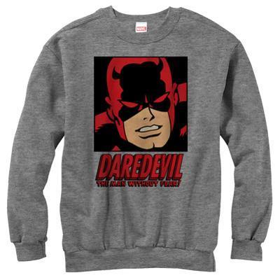 Crewneck Sweatshirt: Daredevil- Face Of A Hero