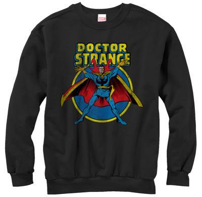Crewneck Sweatshirt: Dr. Strange- Distressed Hero